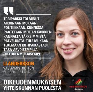 Andersson: Ehdolle kuntavaaleihin